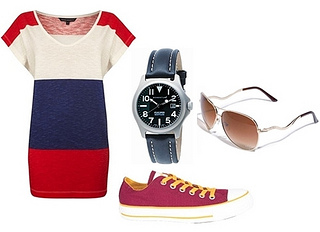olympic 2012 outfit - tee dress and converse