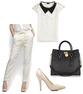 summer work outfit white