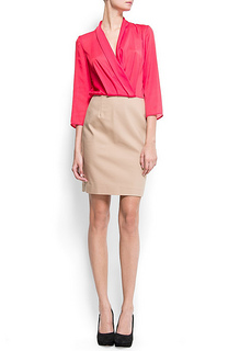 Working Dress - Mango Womens Chiffon Combi Dress