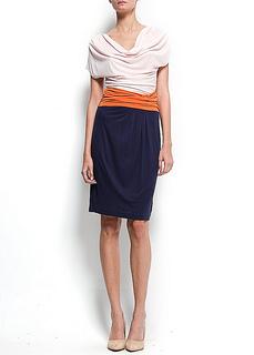 Working Dress - Mango Womens Draped Sash Dress
