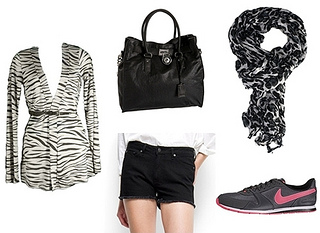 animal print with running shoes