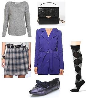how to wear socks Fall 2012 look1