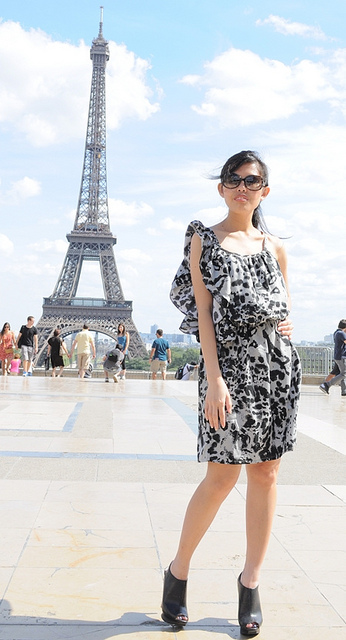 leopard print summer dress for Paris