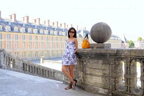 printed dress in Paris