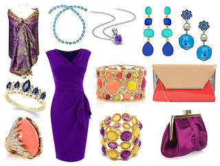 how to style a purple crepe dress