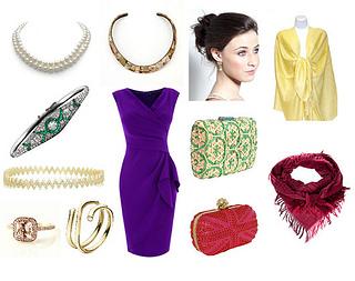 how to wear a purple crepe dress