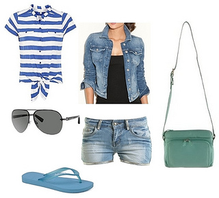 how to wear flip flop outfit1