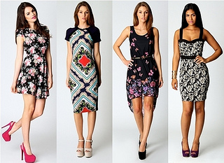 oriental trend - floral printed dresses