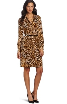 work dress - Womens Animal Printed Polo Dress