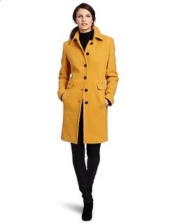 Calvin Klein Womes Single Breasted Coat