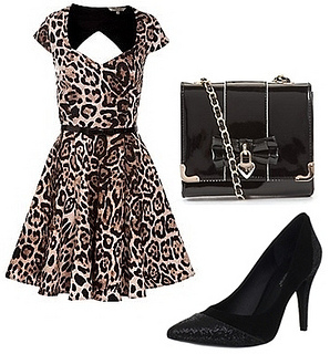 Kelly Brook AW Collection Leopard Dress