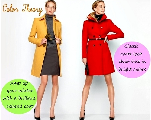 bright colored coats