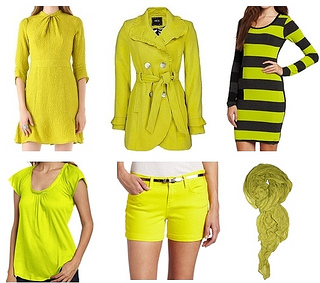 fall 2012 trend colors - Chartreuse