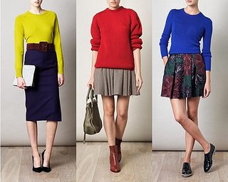 how to wear bright knitted sweaters