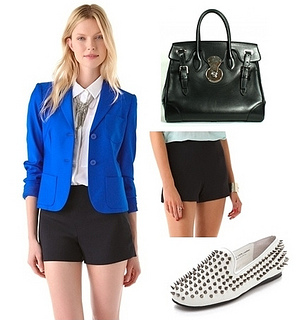 how to wear bright sapphire blazer