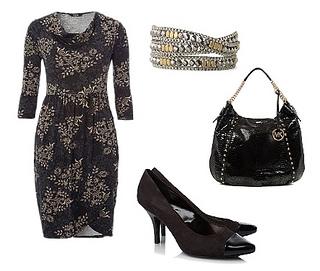 Baroque Formal Jersey Dress