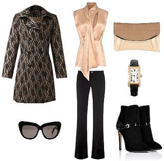 Contrast Lace Plus Size Coat