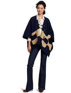 JET Corp Women's Two Tone Poncho