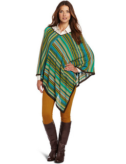 Jones New York Women's V-Neck Poncho