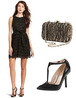 Sleeveless Lace Bow Dress