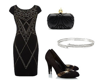 Studded Ponte Dress Party Look