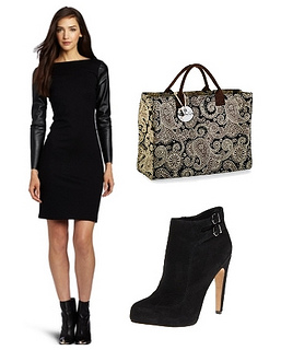 Womens Westminster Faux Leather Dress