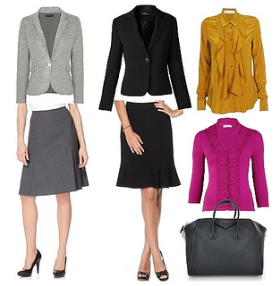 a-line skirt suit for women with big hips