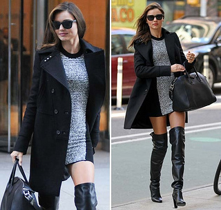 Black Leather Over Knee Boots