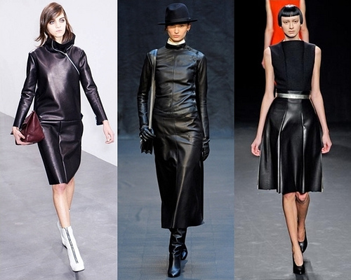 runway leather trend