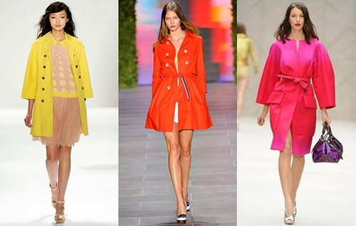Colored Winter Trench Coats