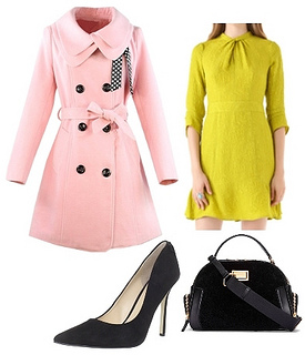 Pink Women Wool Blends Coat