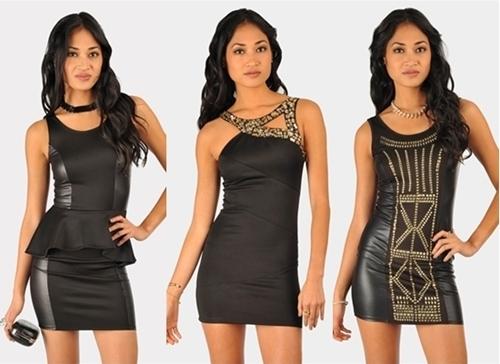 Bedazzled Little Black Club Dresses