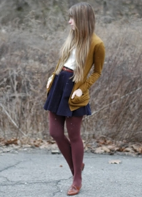 cardigan over skater skirt