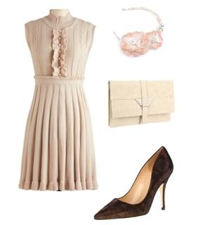 how to wear ruffled dress