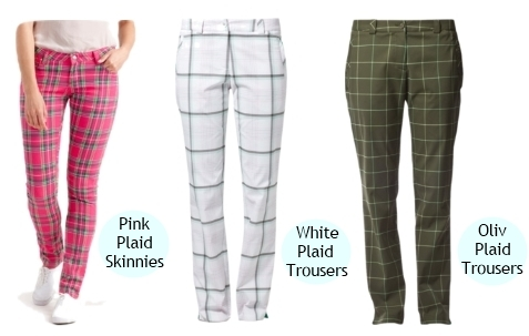 plaid trousers for women spring 2013 trend