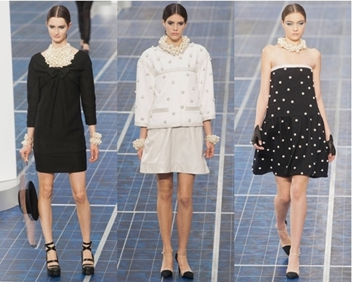 spring pearl accessories by Chanel spring 2013 runway