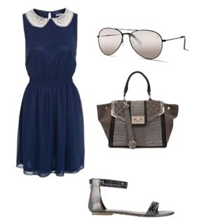 Sleeveless Peter Pan Collar Dress