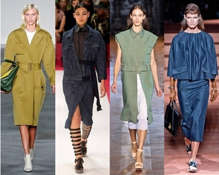 army and denim spring looks