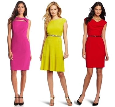 wear to work dresses - bright colored dresses