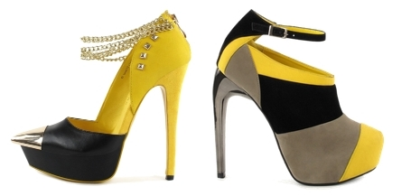 Black and Yellow Colorful Party Shoes