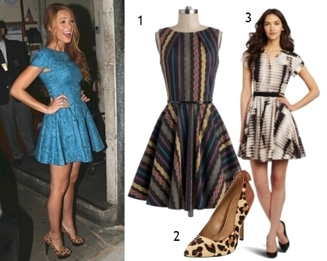 Blake Lively Fit and Flare Dress