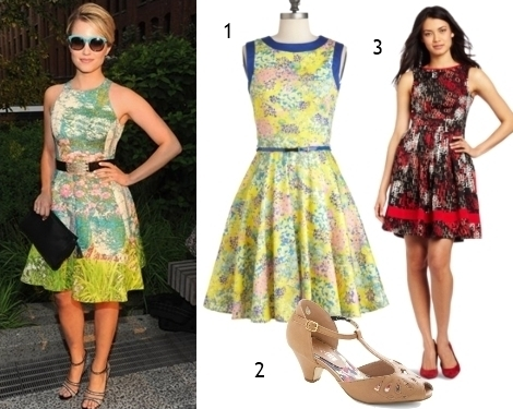 Get Dianna Agron´s Tracey Reese Bold Fit and Flate Dress