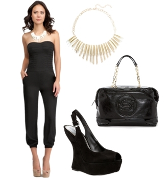 Pleated Bodice Jumpsuit