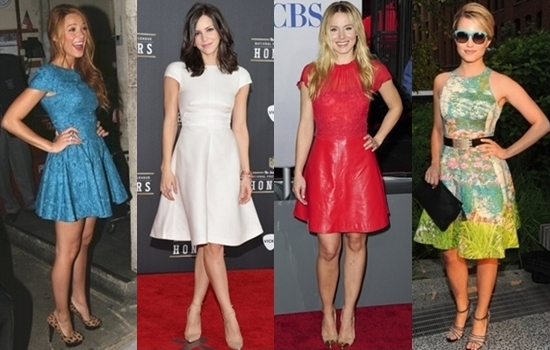 Get the Look: Celebs Wearing Fit and Flare Dresses