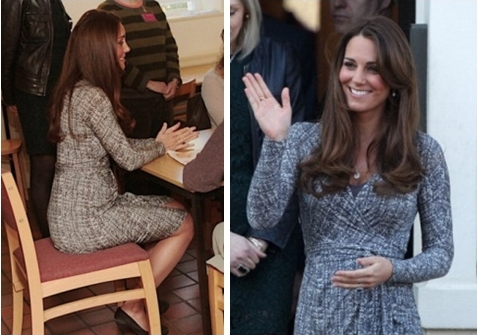 kate middleton wearing maternity dress