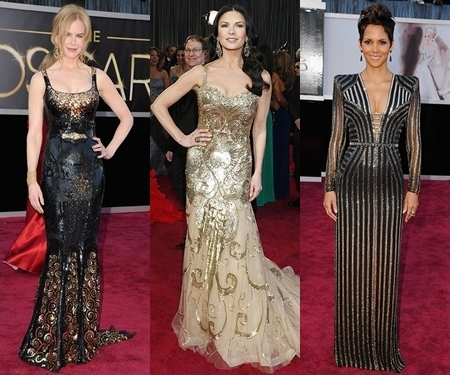 oscar red carpet 2013 shimmery and sequined dresses