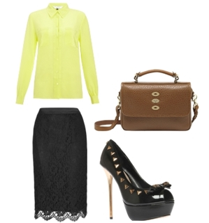 spring neon for work outfit