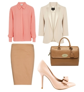 spring pastels for work outfit