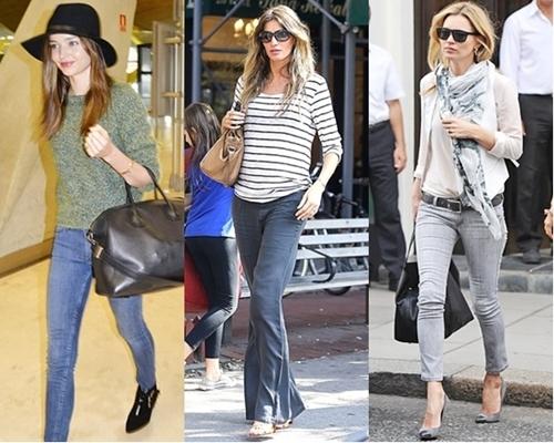 supermodel sidewalk style pretty in jeans