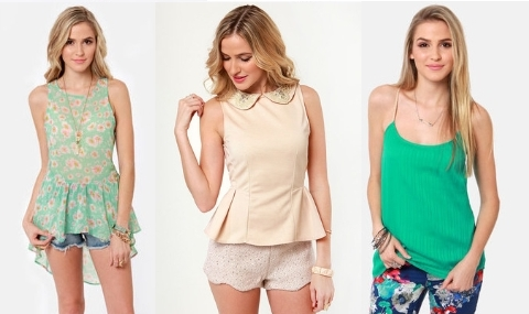sweet girly tops for spring